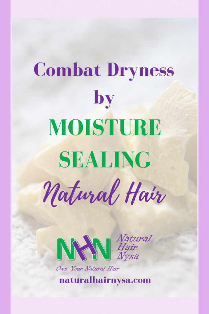 Combat Dryness by Moisture Sealing Natural Hair