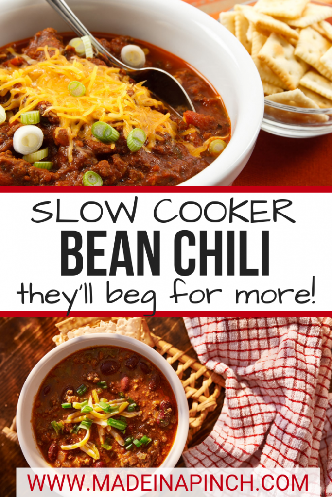 This Slow Cooker Bean Chili Disappears Quickly!