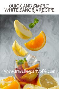 Quick and Simple White Sangria Recipe