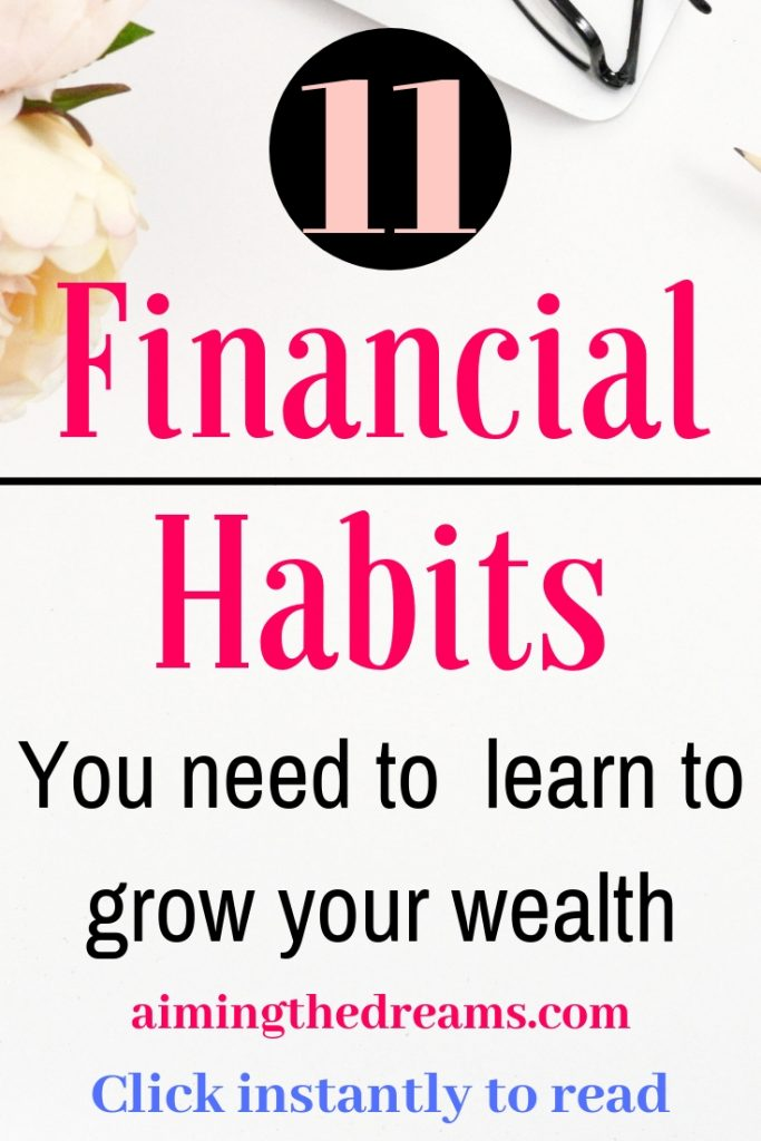 11 financial habits for increasing your wealth