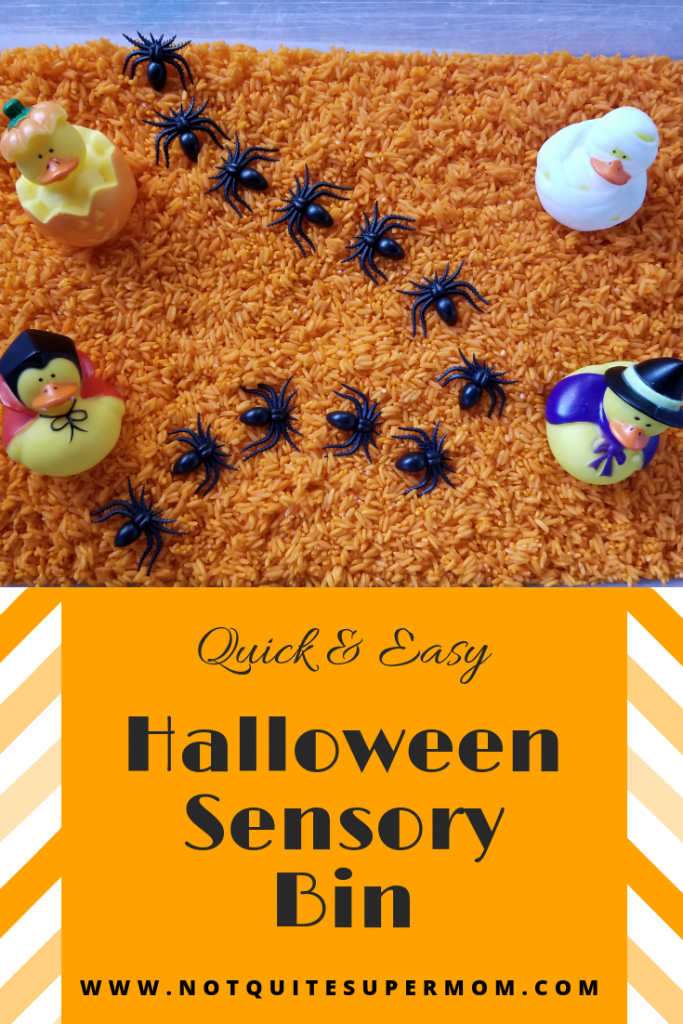 Sensory bins are a great activity to keeps toddlers busy and learning.
